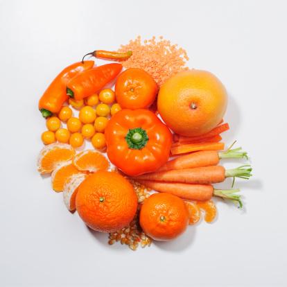 Фрукты оранжевого цвета